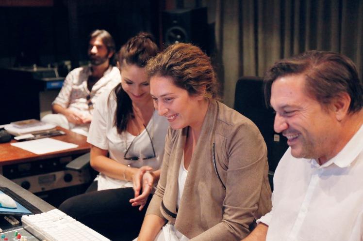 Estrella Morente y Paco Ortega en el estudio. Foto: Miguel Martínez (Gallino Films)